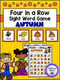 Four in a Row Sight Word Game - Fall - Autumn {Editable}