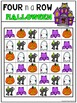 Four in a Row Sight Word Game - Halloween {Editable}