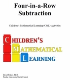Four in a Row Subtraction Fun Math Game