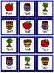 Four in a Row Word Game - Apples {Editable}