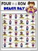 Four in a Row Word Game - Beach Day {Editable}