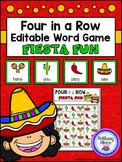 Four in a Row Word Game - Cinco de Mayo {Editable}