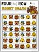 Four in a Row Word Game - Honey Bears {Editable}