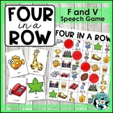 Four in a Row - /f/ and /v/ Articulation Game