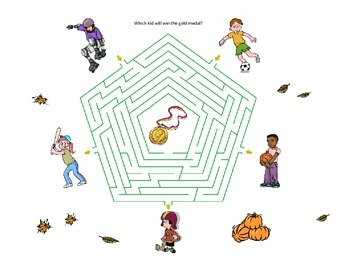 Four interesting looking mazes and solutions