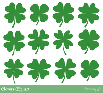 Four Leaf Clover Clipart Cute Lucky Symbol Shamrock Clip Art St