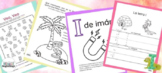 Four letter I printable PDF activities in Spanish