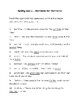 Four multiple choice spelling quizzes - assorted words