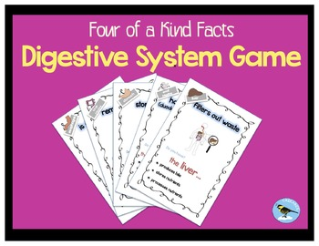 Four of a Kind Facts Digestive System Card Game