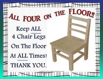 Four on the Floor Sign