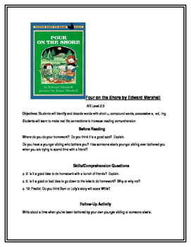 Four on the Shore for Guided Reading