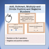 Four operations on positive and negative integers - 50+ Ta