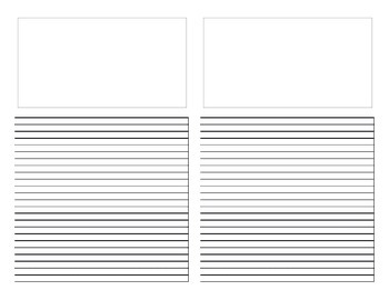 Four page inter-ruled writing template
