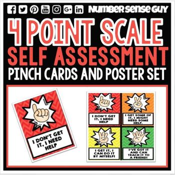 Four point scale formative assessment cards