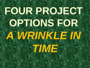 Four projects for A Wrinkle in Time