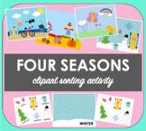 Four season clipart matching