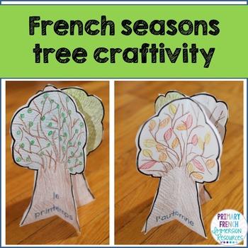 Four seasons tree craft - French