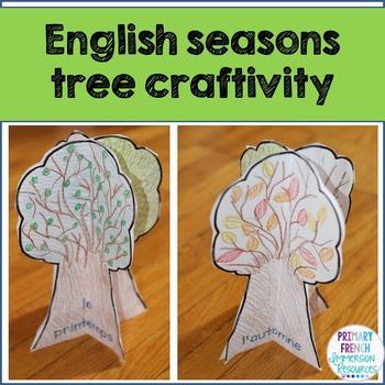Four seasons tree craft - English