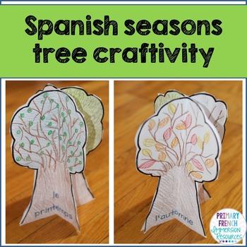 Four seasons tree craft - Spanish