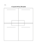Four square writing template.