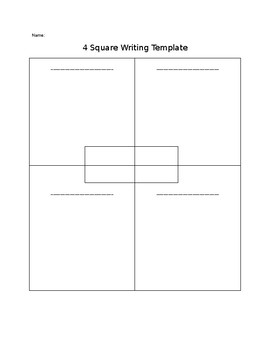 writing template with lines