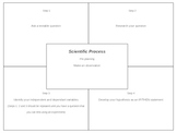 Four square writing tool template for articles, editable f