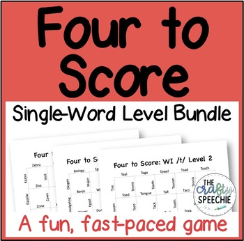 Four to Score: A Fast-Paced Articulation Game (Single-Word Level Bundle)