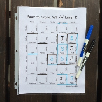 Four to Score: A Fast-Paced Articulation Game (SWL Later-Developing Sounds)