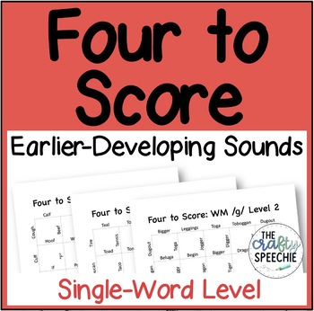 Four to Score: A Fast-Paced Articulation Game (SWL Earlier-Developing Sounds)