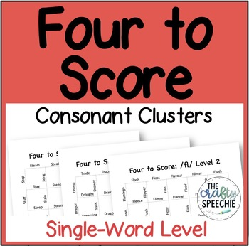 Four to Score: A Fast-Paced Articulation Game (SWL Consonant Clusters)