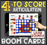 Four to Score Articulation BOOM Card game: Later Sounds