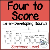 Four to Score: A fast-paced, no-prep sentence-level game (