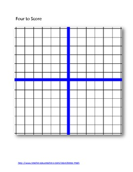 Four to Score: Game that Reinforces Coordinate Graphing
