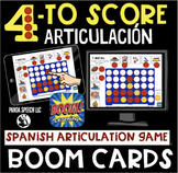 Four to Score Spanish Articulation BOOM Card game for Spee