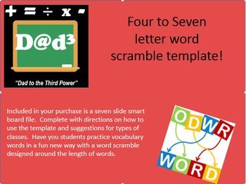 Four to seven letter word scramble bundle
