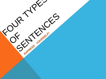 Four types of sentences - instruction and practice