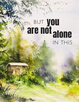 Four watercolor posters: Mumford and Sons quotes