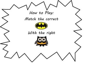 Fours (4) Multiplication Game: Superhero Owls