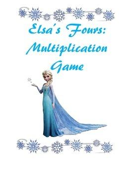 Fours (4) Multiplication Game: Elsa