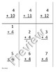Fours 4s Addition and Subtraction practice/flashcards (editable)