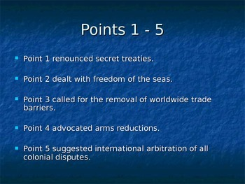 Fourteen Points, The Treaty of Versailles and Germany's reaction