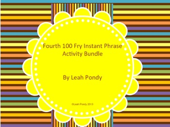 Fourth 100 Fry Phrase Activity
