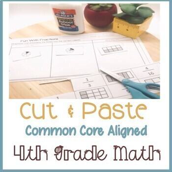 cut paste fourth 4th grade common core math by teaching with balls. Black Bedroom Furniture Sets. Home Design Ideas