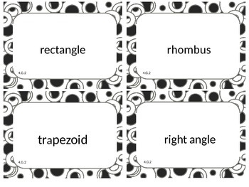 Fourth (4th) Grade Common Core Math Word Wall Cards 4.G.2