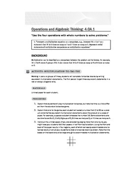 Fourth (4th) Grade Math Common Core Lessons and Activities