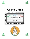 Fourth (4th) Grade Science Notebook SPANISH