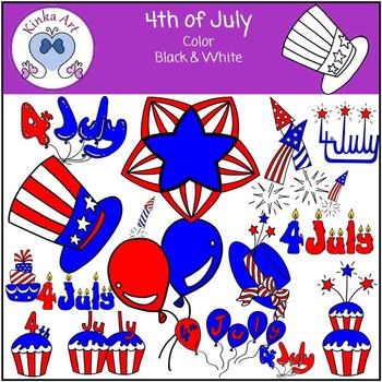 Fourth {4th} of July Clip Art