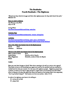 Fourth Beatitude--The Righteous
