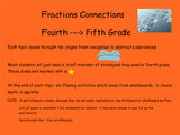 Fourth-->Fifth Grade Fractions Module Connections based on