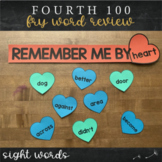 Fourth Fry Sight Words - Heart Word Wall